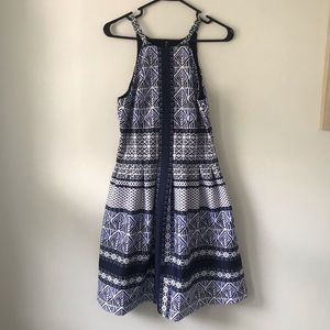 Size 8 Vince Camuto Fit and Flare Halter Dress